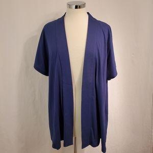 Lane Bryant Fun&Flirty Royal Blue Cotton Blend Top